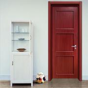 红色木质门设计