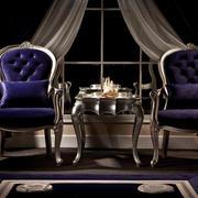 古典欧式紫色椅子