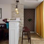 客厅白色吧台设计