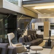 复式楼豪华精美型客厅设计