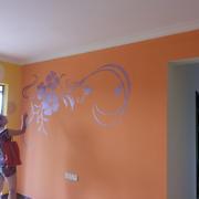 橙色壁纸效果图