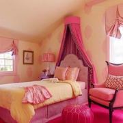 公主小香风之粉色女孩卧室设计