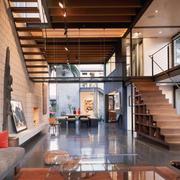 中式豪华型复式楼楼梯设计