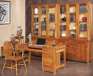 书房原木家具装修效果图