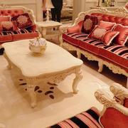 欧式客厅木质茶几设计