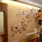 植物藤条壁纸图案