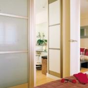 日式一片式玻璃推拉门