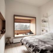 工业风单身公寓小卧室
