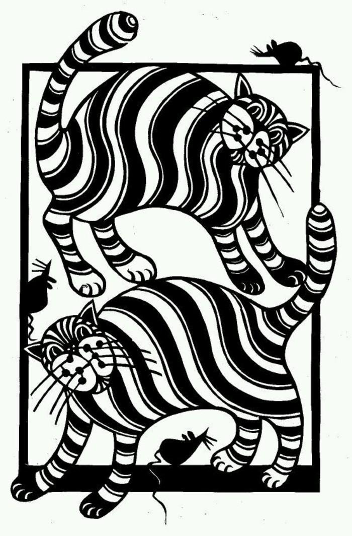 动物图案剪纸图片