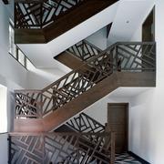 中式木质楼梯设计