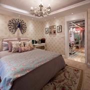 欧式小卧室大床铺设计