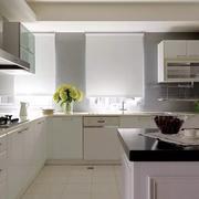 美式白色典雅型厨房设计
