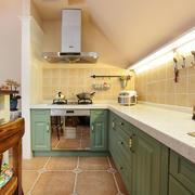 美式开放式厨房装修设计