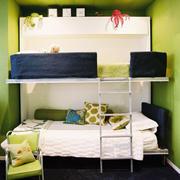 绿色儿童房床铺设计