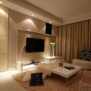 欧式简约精美化电视墙设计