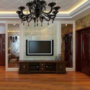 美式典雅型客厅玻璃墙设计