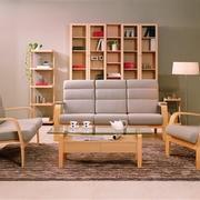 曲美木色椅子设计