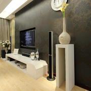欧式深色系电视墙设计