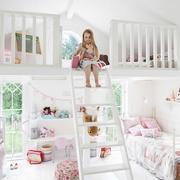 欧式白色双层床设计效果