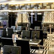 茶餐厅黑色漆皮沙发