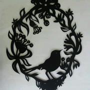 小型鸟类形象剪纸图案