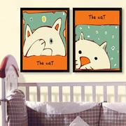 卡通猫形象墙