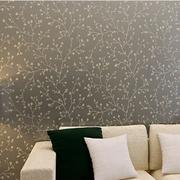 白色波点式卧室壁纸图