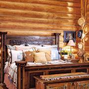 中式复古式典雅型木床设计