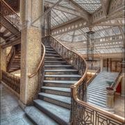 花架式大型客厅楼梯设计
