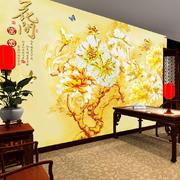 金碧辉煌式中式玻璃墙设计