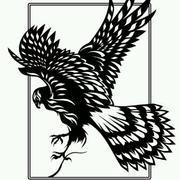 老鹰剪纸图案效果图