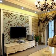 美式新潮浪漫型电视墙设计