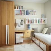 书房置物架和书柜一体设计