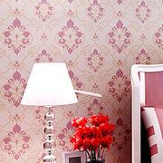 红色印花式壁纸