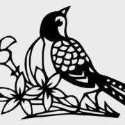 喜鹊形象剪纸图案