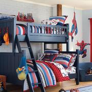 儿童房实木双层床设计