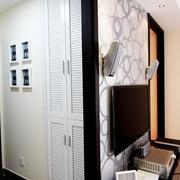 黑白马赛克式电视墙设计
