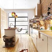 日式原木型厨房装修
