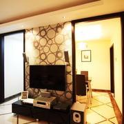 客厅隔断式电视墙设计