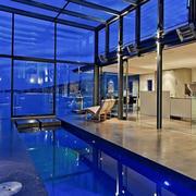 超级豪宅户外游泳池设计
