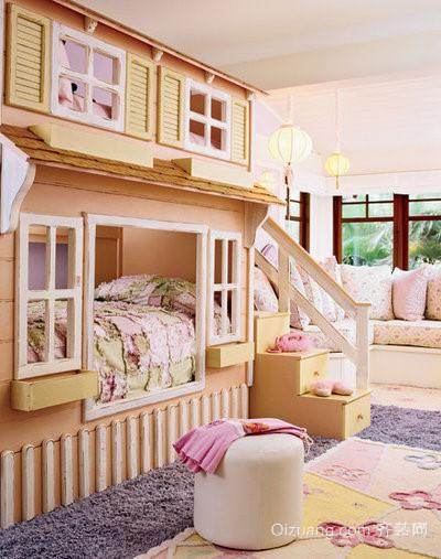 小卧室上下床效果图