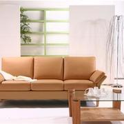 暖橙色曲美沙发设计
