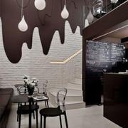 咖啡色酒吧设计