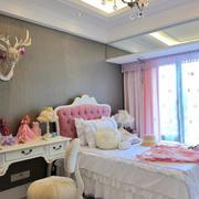粉色和白色系列小卧室