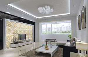 精美型客厅玻璃效果图