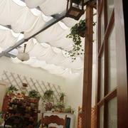 咖啡馆创意白色吊顶设计