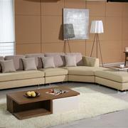 经典原木色客厅沙发设计