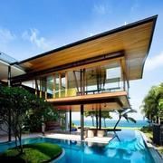 欧式度假型别墅游泳池设计