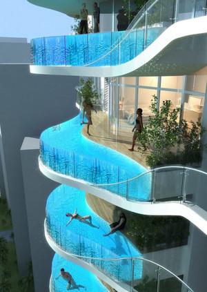 超级豪华式样的游泳池设计