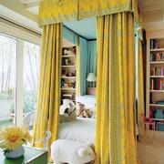 黄色女生卧室装修效果图